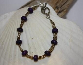 Double Strand Purple Jade Bracelet