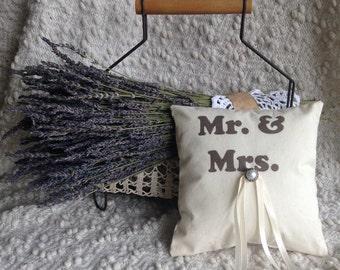 Rustic Ring Bearer Pillow - Lavender Filled, Wedding Ring Pillow
