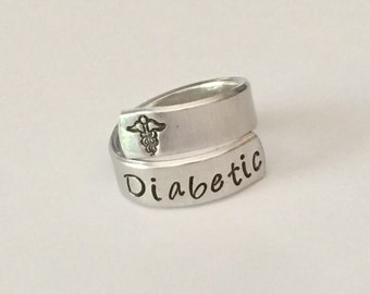 Medical alert ring - Hand stamped- Allergy  - Custom made to your medical alert - medical conditions