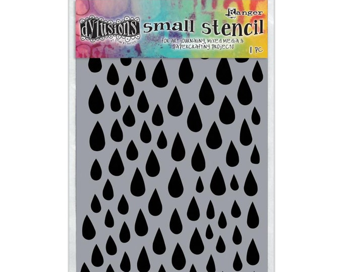 Ranger Dylusions RAINDROPS Small 5x8 Stencil by Dyan Reaveley