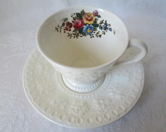 Vintage Wellesley Wedgwood Tea Cup and Saucer