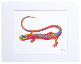 Salamander Illustration, Digital Print