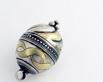 SaLe! sALe! Antique Tribal Handmade Egg Pendant Sterling Silver