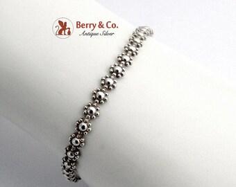 SaLe! sALe! Thin Floral Adjustable Bracelet Sterling Silver