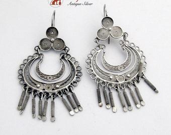 Ornate Filigree Chandelier Earrings Sterling Silver