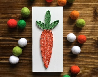 MADE TO ORDER String Art Mini Carrot Sign