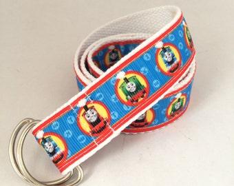 Thomas Belt, Boy's Belt, movie belt, Adjustable, Cotton,  train belt, boys accessories
