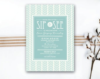 INSTANT DOWNLOAD sip & see invitation / adoption sip and see / tribal sip and see / adoption open house / adoption party