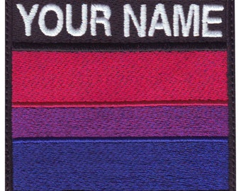 Bisexual Gay Pride Custom Badge Flag Embroidered  Patch