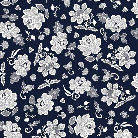 Floral Fabric By The Yard Quilting Cotton Rose Lace