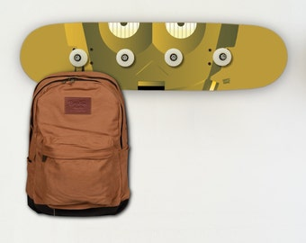 Skateboard Coat Rack - SKATE WARS: C-3PO