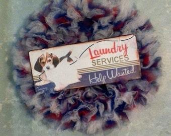Laundry Room Tulle Wreath