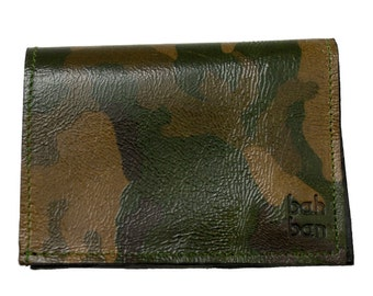 Leather wallet in premium Spanish leather exclusive of Bahban. Made in Spain.