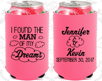 I found the man of my dreams, Neoprene Wedding, Clouds, Neoprene Wedding Favors (257)