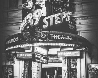 London Photography, London, England, UK, Criterion Theatre, 39 Steps, show, London wall art, London decor, London theatre photo