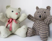 Keepsake Bear, memory bear. Custom made. Teddy Bear made out of your favorite fabric, clothing, onsies.