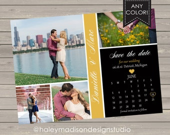 Save The Date, Engagement Announcement, Calendar DIGITAL FILE