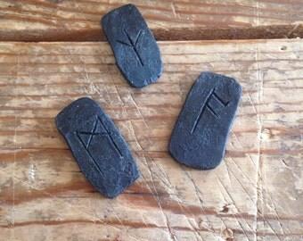 Iron Anglo Saxon Runes - full set