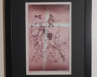 """Mounted and Framed - The Tightrope Walker Print by Paul Klee - 16"""" x 12"""""""