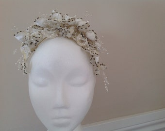 bridal wedding headpiece tiara crown hair band boho tiara head piece