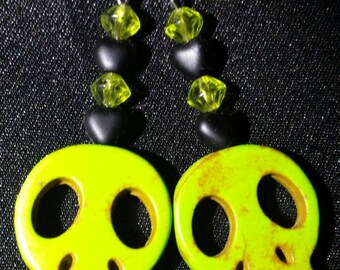 Green Wood Skulls