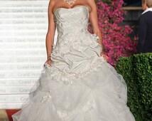 Ballgown Exquisite Ruffle Wedding dress, A line wedding dress, Fairy wedding dress or Princess wedding dress, Boho bridal gown, bridal dress