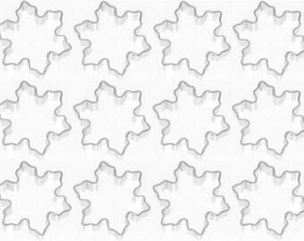 "1 Dozen 12 Mini Snowflake Cookie Cutters Party Favors! 1.75 "" NEW! Christmas"