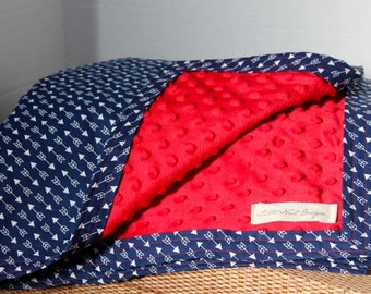 Navy Blue Arrow Blanket