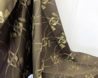 Atomic Fabric Mid Century Modern Fabric Abstract Fabric Eames Fabric 1950's Fabric Brown