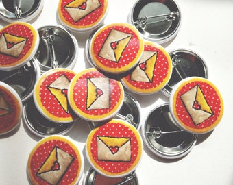 "Love Letter Pinback Button (1.25"")"