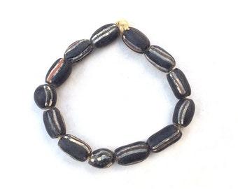 African antique Venetian Wound glass trade beads
