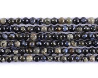 "6MM325 Llanite round ball loose gemstone beads 16"""