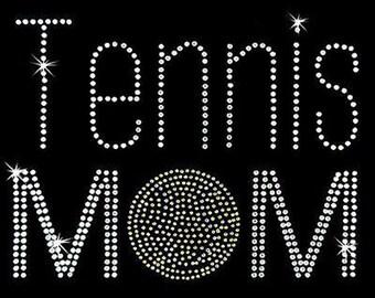 Rhinestone Transfer - Hot Fix Motif - Tennis Mom
