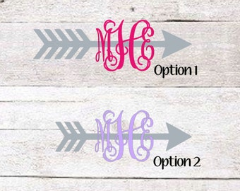 Arrow Monogram Decal | Arrow Car Decal | Arrow sticker | Vinyl Decal | Arrow Vinyl Decal
