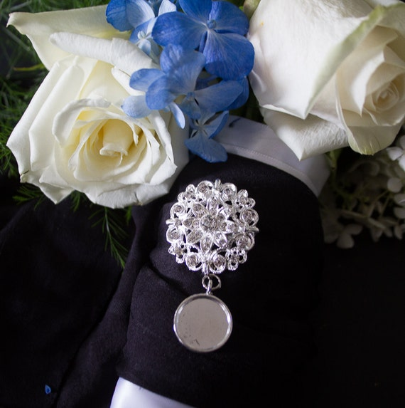 1 rhinestone wedding bouquet charm pin photo pendants charms