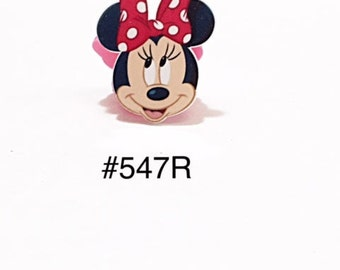 2/3/5 pc Minnie Mouse Head with Red Polka Dot Bow Planar Resin Flat back Cabochons Hair Bow Center