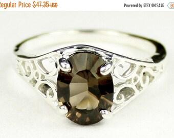 Summer Sale, 30% Off, SR005, Smoky Quartz, 925 Sterling Silver Ring