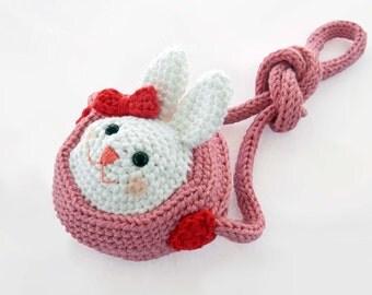 How to Crochet Girls' Purse Pattern, Coin Purse Pattern, Amigurumi Bunny Purse Pattern, Kawaii Bunny