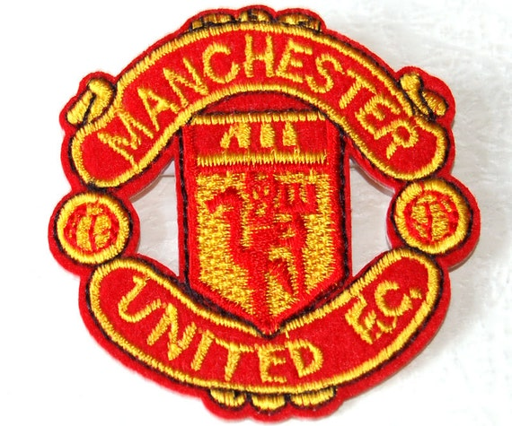 Manchester united f c logo applique embroidery by