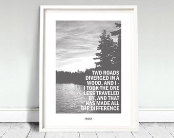 The Road Not Taken - Robert Frost Art Print