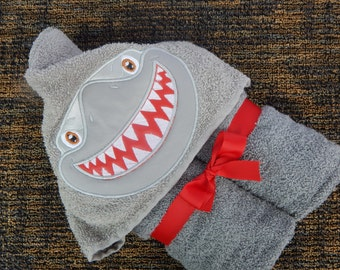 Shark Hooded Towel, Bath Towel, Child Towel, Pool Towel