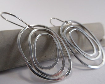 Sterling silver 'circles' earrings