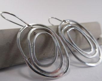 Sterling silver 'circles' earrings