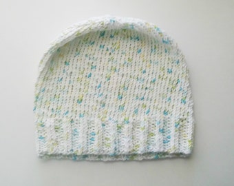 Knit Slouchy Beanie: Cool Hearts