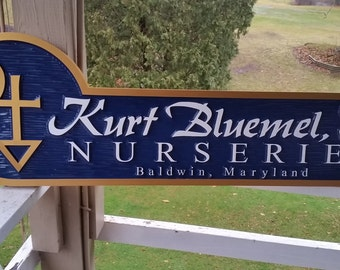 Custom  Carved Business Sign - Professional Sign for Garden Center or any Office