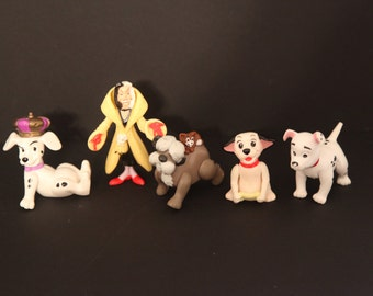 Vintage 101 dalmations toys lot of 5