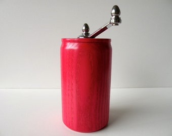 Red pepper grinder etsy Funky salt and pepper grinders