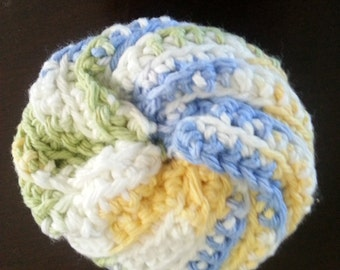 Resuable Dish Scrubber/Scrubbie - Crocheted - 100% Cotton - Cool Breeze Ombre