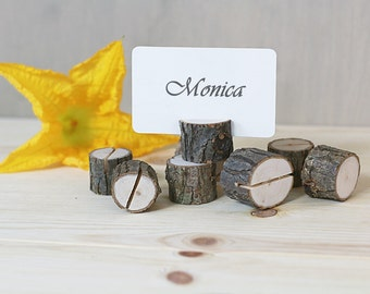 10 card holders, table number, table number stand, rustic wedding table decor, wedding table, party decor