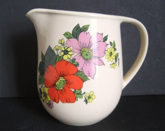 Vintage Romanian Pottery Jug - Made in Romania 1960s (water milk pitcher)